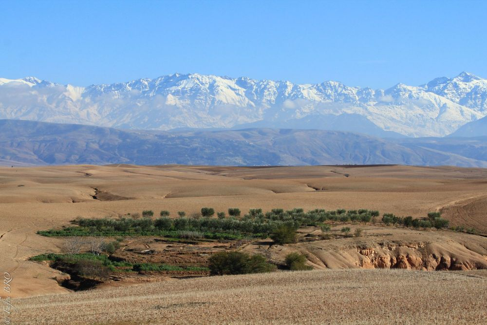 Découverte du désert d'Agafay à vélo Marrakech Maroc