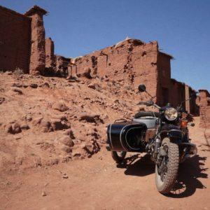Le désert d'Agafay en Side car